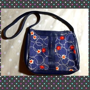 Flowery crossbody purse - vintage